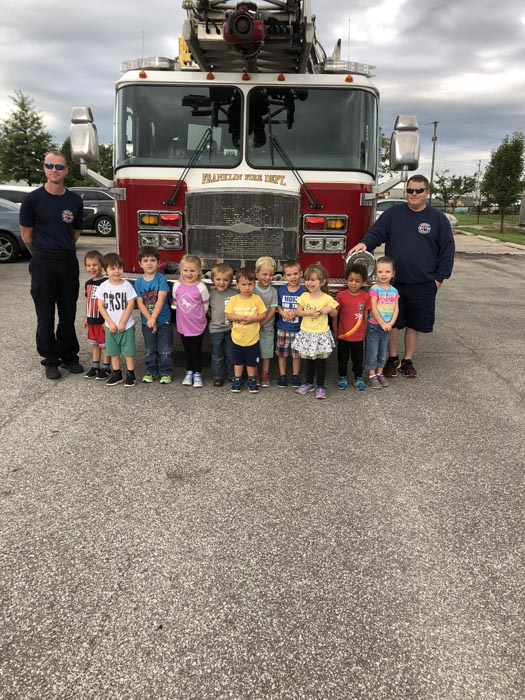 fire truck visit at daycare